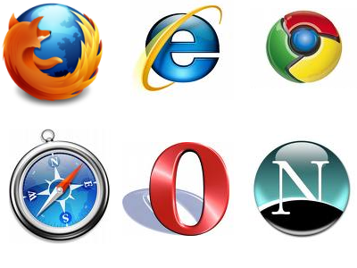 Image Gallery internet browser logos and names